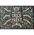 Trick or Treat Lettering Hand Drawn vector image