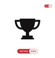 trophy cup icon vector image