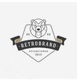 Vintage bear face Line art logotype emblem symbol