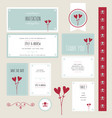 wedding invitation thank you save the date vector image vector image