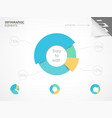 Pie chart Elements for infographic vector image