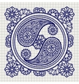 Ornate yin-yang sign on notebook background vector image
