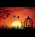 released to sunset vector image