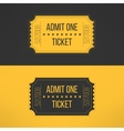 Entry ticket in stylish vintage style Admit one vector image