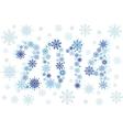 2014 snow stars vector image vector image