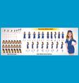 air hostess character model sheet with walk cycle vector image vector image