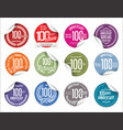 anniversary modern tag and stickers collection vector image