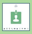 badge icon vector image vector image