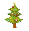 Beautiful Christmas tree on a white background vector image