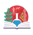 Biology Emblem vector image vector image