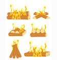 Bonfire set vector image vector image