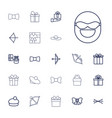 bow icons vector image vector image