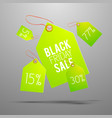bright green tag set vector image