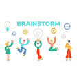 business people meeting brainstorm flat set vector image vector image