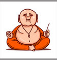calm buddha practices yoga and meditates vector image