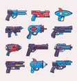 cartoon gun toy blaster for kids game with vector image vector image