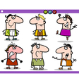 cartoon people emotions characters set vector image vector image
