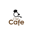 cat cafe concept vector image vector image
