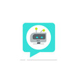 chatbot in chatting bubble speech icon vector image vector image