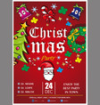 christmas party poster ready to print vector image