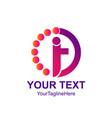 circle dot human letter i or t logo design vector image vector image
