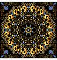 circular gold ornaments vector image vector image