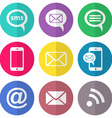 Communication flat icons vector image vector image