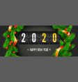 counting last moments before christmas or new year vector image vector image