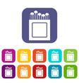 crayons icons set flat vector image vector image
