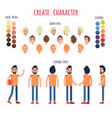 create character banner in casual style vector image vector image