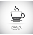 Cup of espresso simple icons vector image vector image