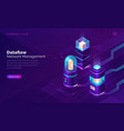 data flow network manager isometric concept vector image vector image