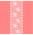 Decorative flower lacy border on pink background vector image