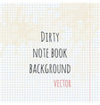 dirty note book background vector image