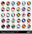 Flags of all countries in the 3d ball vector image vector image