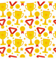 Flat Seamless Pattern Sport Competition Trophy vector image vector image