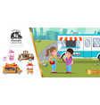 flat street food concept vector image