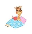 Giraffe Reading A Book vector image vector image