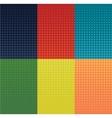 grunge halftone banners set Dot vector image vector image