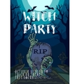 Halloween with spooky zombie vector image vector image