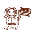 Hand Drawn American Astronaut vector image vector image