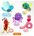 Insects various types set vector image vector image