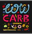 keto diet lettering vector image