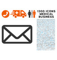 letter icon with 1300 medical business icons vector image vector image
