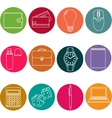 Line icons set icons for business management vector image