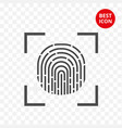 minimalistic id icon fingerprint isolated in vector image