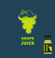 natural white grape juice logo and label vector image vector image