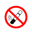 No smoking sign on white background vector image vector image