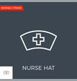 nurse hat thin line icon vector image vector image