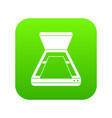 open scanner icon digital green vector image vector image